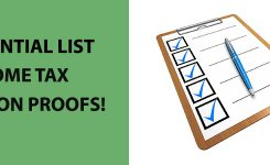 The Essential List of Proofs for Income Tax Declarations