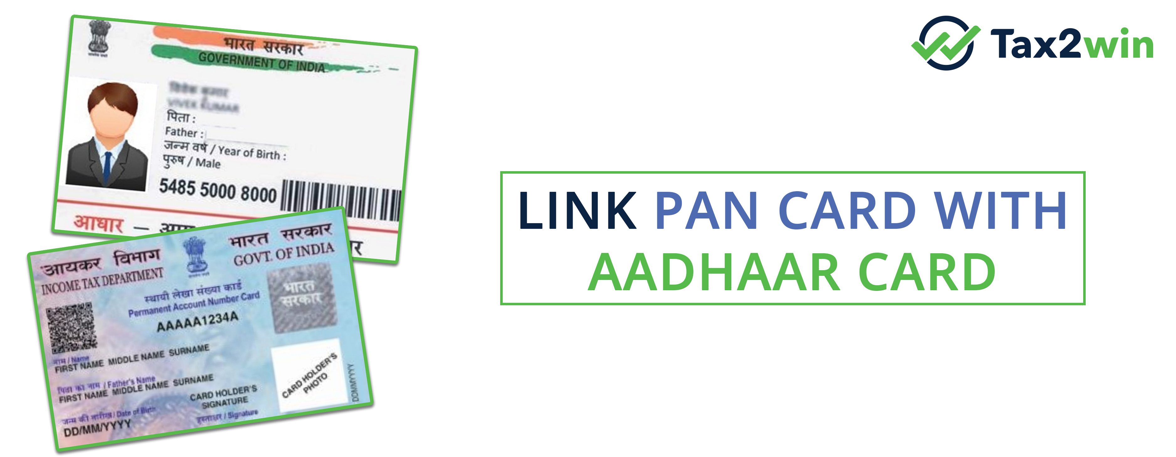 Pan card with Aadhar card