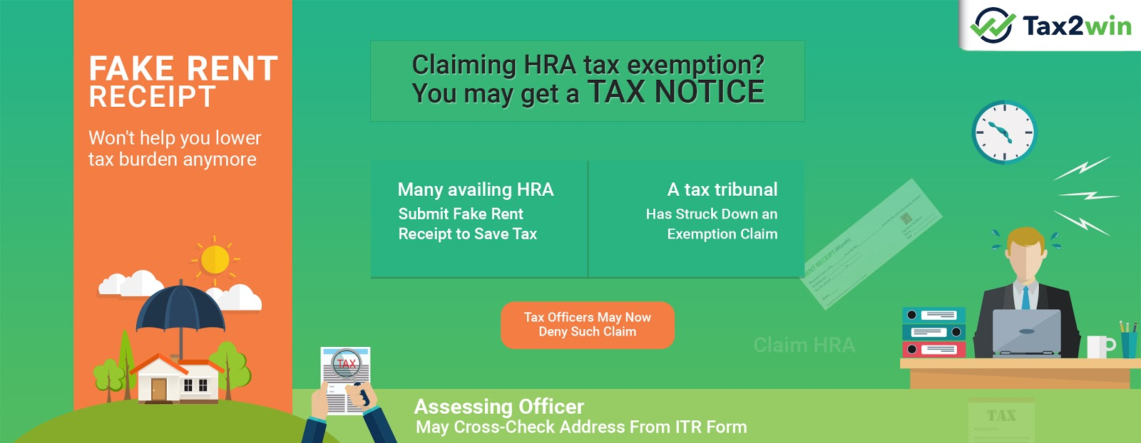 Claiming HRA Tax Exemption? You may get a TAX NOTICE