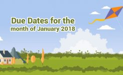 January 2018: Tax due dates should not miss