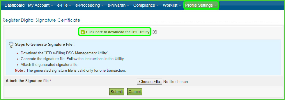 Digital Signature Certificate Utility