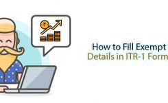 How to fill exempt income details in ITR 1 Form?