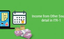Income from Other Sources detail in ITR 1
