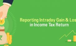 Reporting Intraday Gain & Loss in Income Tax Return