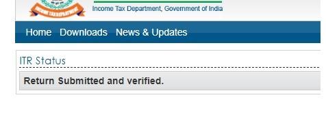 Check ITR V status