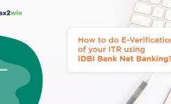 E Verification of ITR Via IDBI Net Banking & ATM