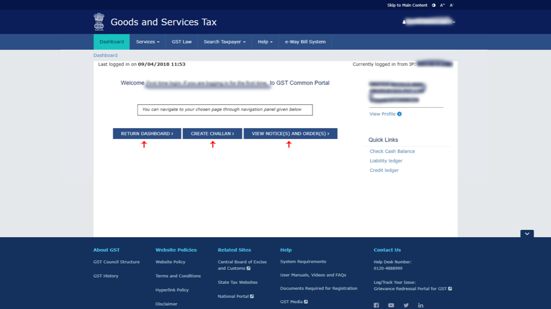 GST Login - Guide on How to login to Government GST Portal