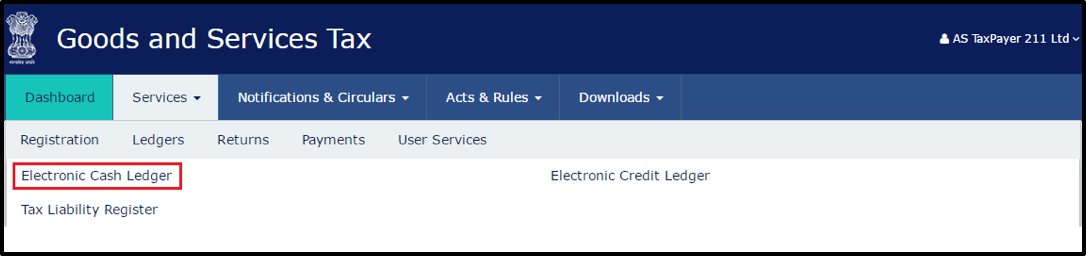 How to See Electronic Cash/Credit/Liability Ledgers in GST portal
