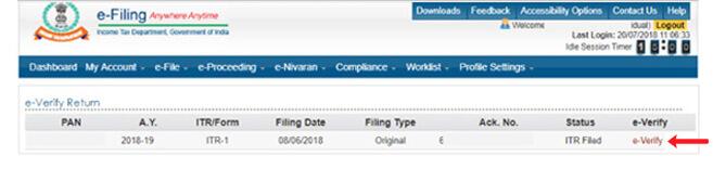 Yes Bank Net Banking ITR E-verify