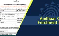 Aadhaar card enrolment or application form