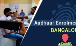 Aadhaar Enrolment Centres in Bangalore