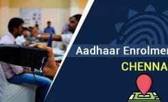 Aadhaar Enrolment Centers in Chennai
