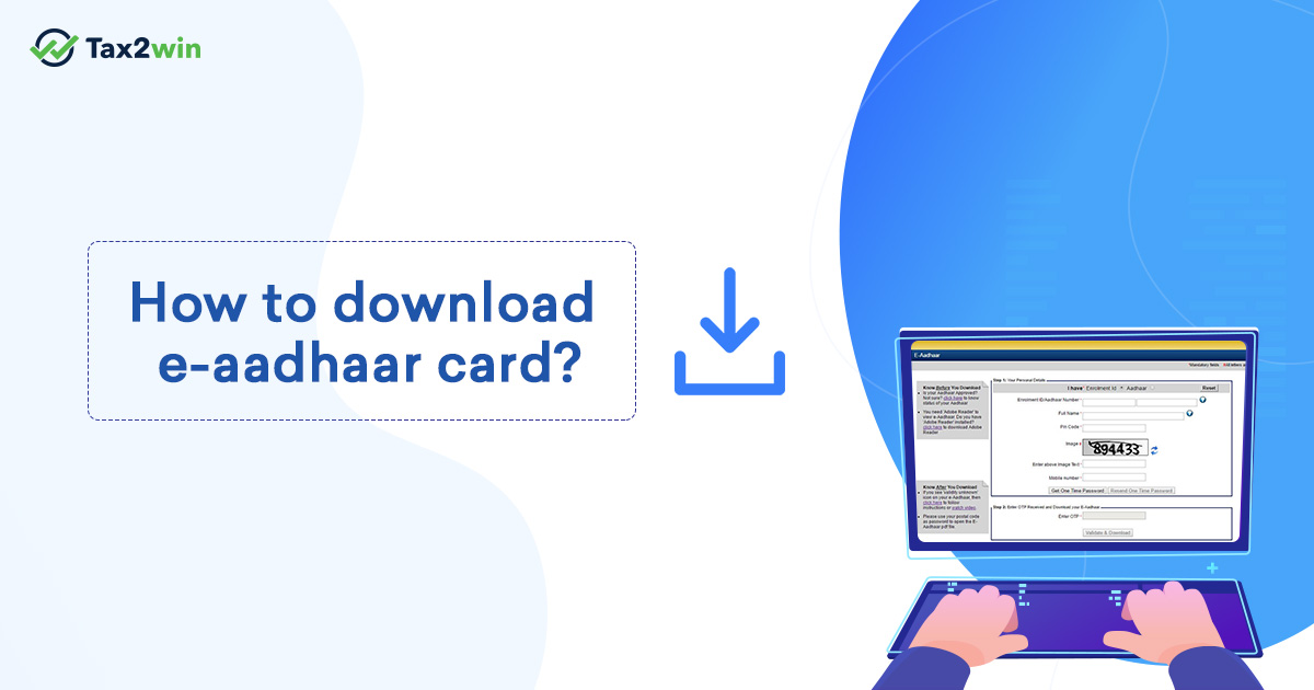 How to download e-aadhaar card online