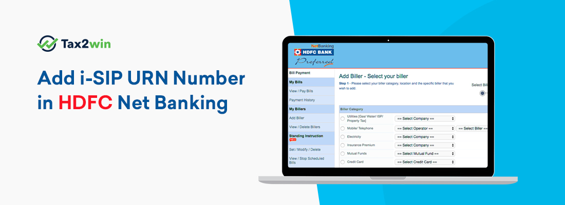 Add-i-SIP-URN-Number-in-HDFC-Net-Banking