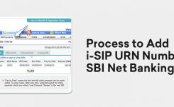 Process to Add i-SIP URN Number in SBI Net Banking