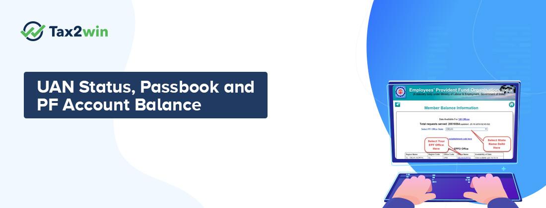 UAN passbook PF balance