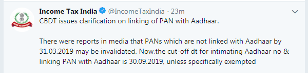 Aadhar Link with PAN 1