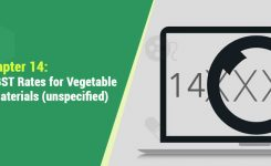 HSN Codes and GST Rates for Vegetable products and materials