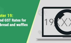 HSN Codes and GST Rates for Pastry, pizza, bread and waffles