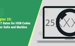 Chapter 25: HSN Codes and GST Rates for Salts and Marbles