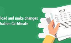 Download GST Registration Certificate & make changes