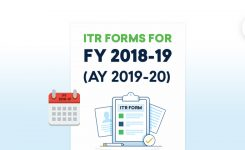 ITR Forms : FY 2018-19(AY 2019-20) |E-filing |Income Tax Return