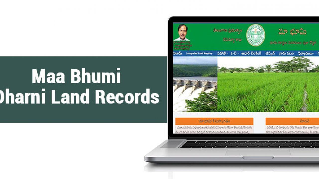 Dharni Telangana Land Records- Sign up and log in process