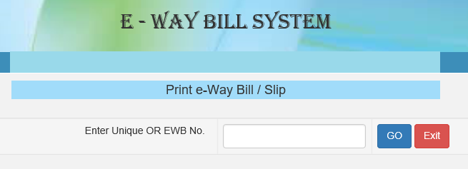 Enter Bill No.