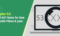 HSN Codes and GST Rates for Raw Vegetable, Textile Fibres & yarn